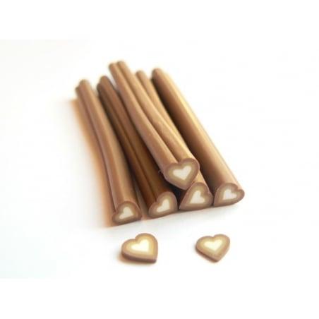 Acheter Cane coeur marron dégradé- en pâte polymère - à trancher - 0,49€ en ligne sur La Petite Epicerie - Loisirs créatifs