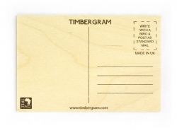 """1 carte postale en bois - """"Coeurs"""""""