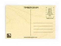 "1 carte postale en bois - ""Flamand rose"""