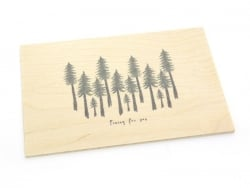 "1 Postkarte aus Holz - ""Pining for you"""