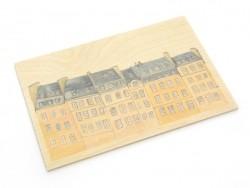 """1 wooden postcard - """"Paris"""""""