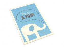 "1 Postkarte aus Holz - ""Elefant"""