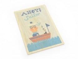 "1 carte postale en bois - ""Elephant"""