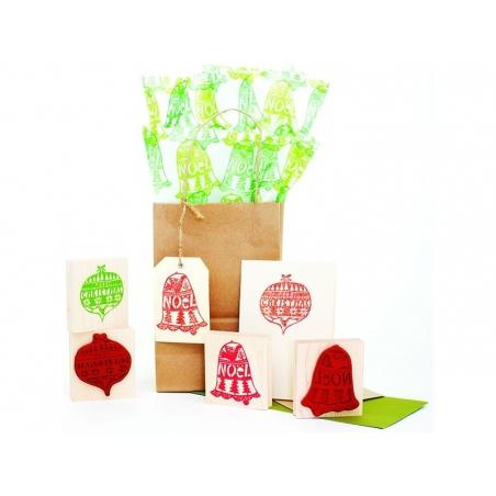 "Tampon boule de Noël ""Merry Christmas"" Yellow Owl Workshop - 2"