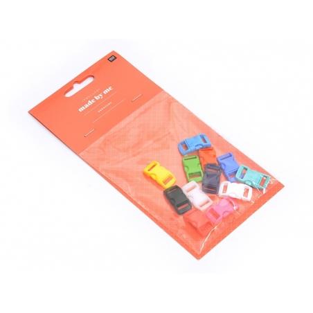 12 fermoirs 27mm pour Paracorde - multicolore