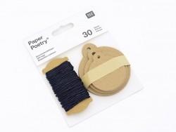 30 étiquettes rondes et leur ficelle - kraft