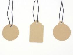 Acheter 30 étiquettes rondes et leur ficelle - kraft - 4,75€ en ligne sur La Petite Epicerie - 100% Loisirs créatifs