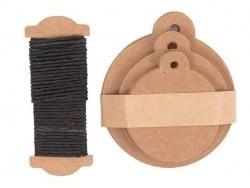 Acheter 30 étiquettes rondes et leur ficelle - kraft - 4,75€ en ligne sur La Petite Epicerie - Loisirs créatifs