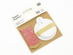 Acheter 30 étiquettes rondes et leur ficelle - blanc - 4,75€ en ligne sur La Petite Epicerie - 100% Loisirs créatifs