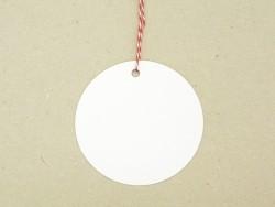 Acheter 20 étiquettes rond et leur ficelle - blanc - 4,15€ en ligne sur La Petite Epicerie - Loisirs créatifs