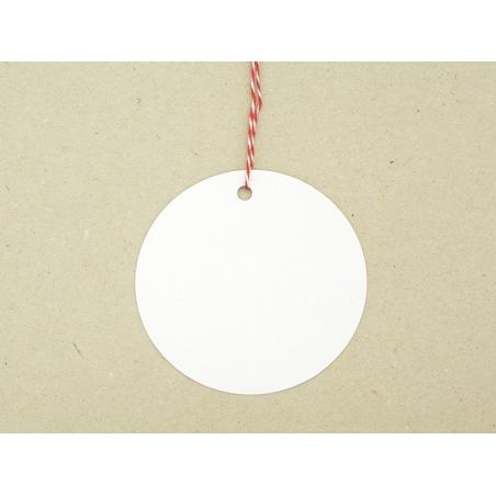 20 étiquettes rond et leur ficelle - blanc Rico Design - 3
