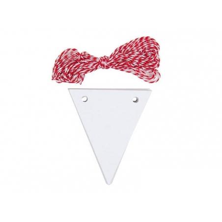 Acheter 20 étiquettes fanion et leur ficelle - blanc - 4,15€ en ligne sur La Petite Epicerie - 100% Loisirs créatifs