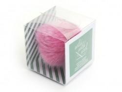 Fake fur pompom - fuchsia pink