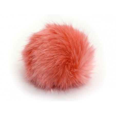 Acheter Pompon fausse fourrure - Corail - 6,95€ en ligne sur La Petite Epicerie - 100% Loisirs créatifs