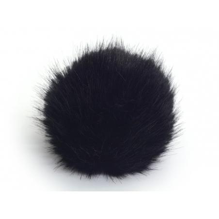 Pompon fausse fourrure - Noir