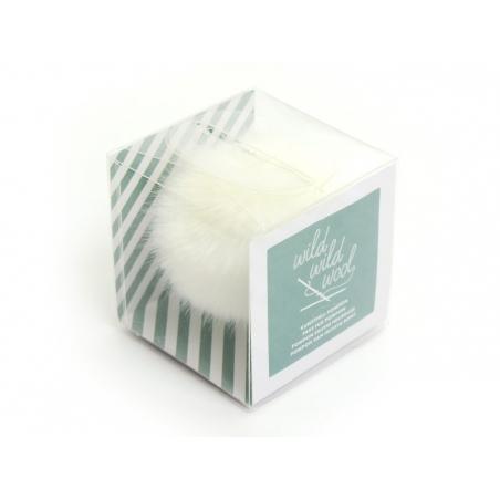 Fake fur pompom - snow white