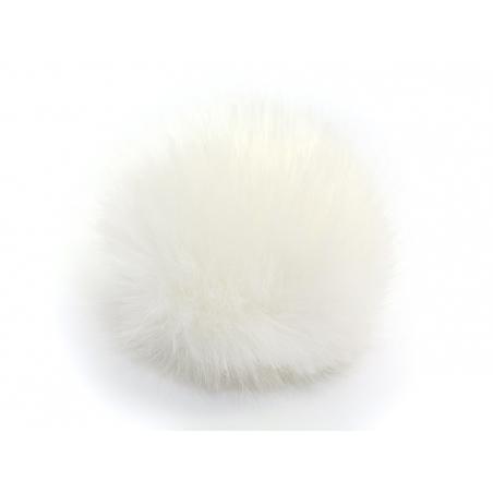 Pompon fausse fourrure - Blanc neige