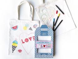 Kit Tote Bag à décorer - Sweet