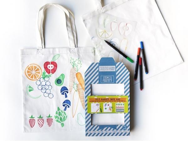 Tote bag kit - Je vais au marché