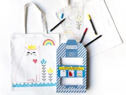 Kit Tote Bag à décorer - Chat