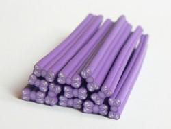 Schleifencane - lila mit Punkten