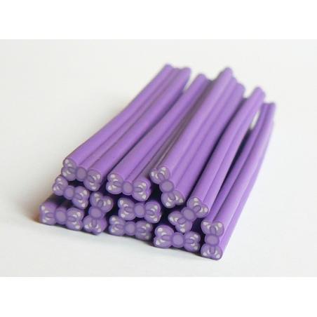 Cane noeud violet à pois- modelage et pâte fimo  - 2