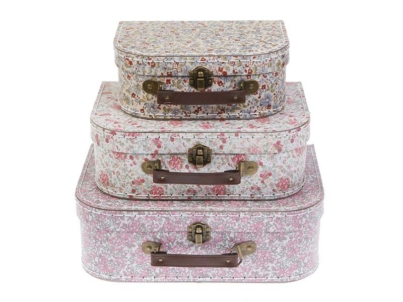 Acheter Set de 3 valisettes - Fleurs vintage - 22,99€ en ligne sur La Petite Epicerie - Loisirs créatifs