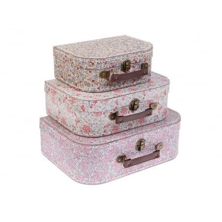 Set of 3 suitcases - Vintage flowers