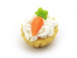 1 tarte / cupcake miniature - carotte