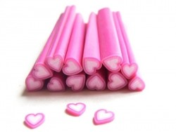 Heart cane - pink