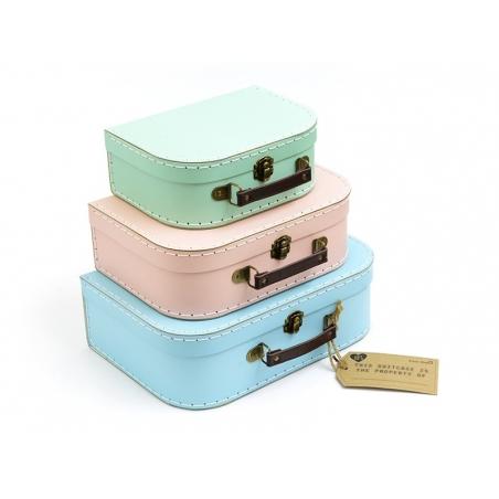 Acheter Set de 3 valisettes - Couleurs pastel rétro - 27,90€ en ligne sur La Petite Epicerie - 100% Loisirs créatifs