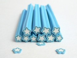 Star cane - blue and white