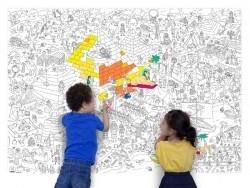 Poster géant en papier à colorier - PYRAMID