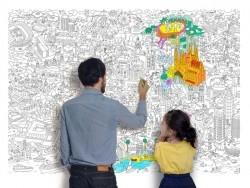 Poster géant en papier à colorier - BARCELONA