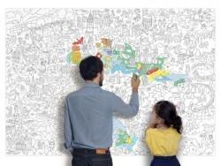 Poster géant en papier à colorier - PARIS
