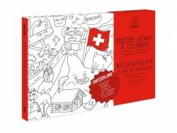 Poster géant en papier à colorier - SWITZERLAND