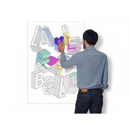 Acheter Affiche à colorier pour les grands - LA VIE EST BELLE - 9,90€ en ligne sur La Petite Epicerie - 100% Loisirs créatifs