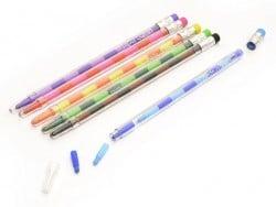 6 Crayons de couleurs à mines interchangeables