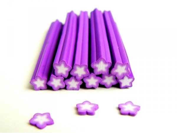 Star cane - purple