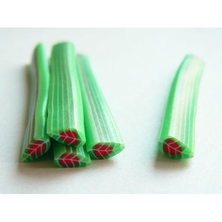 Acheter Cane feuille verte au coeur rouge - 0,49€ en ligne sur La Petite Epicerie - Loisirs créatifs
