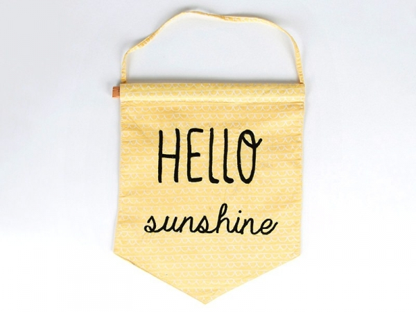 Drapeau fanion en tissus - Hello sunshine Sass&Belle - 1