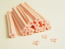 Star cane - pale pink