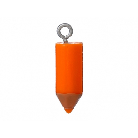 1 orange coloured crayon plastic charm