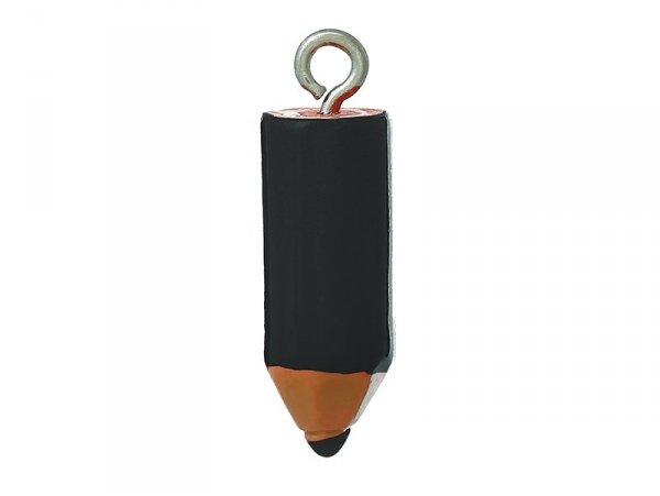 1 black coloured crayon plastic charm
