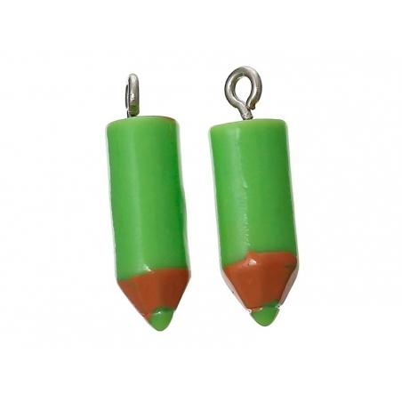 Acheter 1 breloque en plastique crayon vert - 1,79€ en ligne sur La Petite Epicerie - 100% Loisirs créatifs