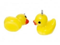 1 yellow duck plastic charm