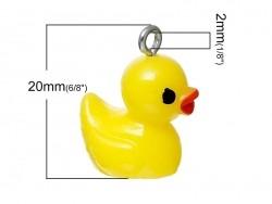 Acheter 1 breloque en plastique canard jaune - 1,89€ en ligne sur La Petite Epicerie - Loisirs créatifs
