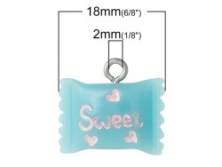 Acheter 1 breloque en plastique sachet bonbons bleu - 1,39€ en ligne sur La Petite Epicerie - 100% Loisirs créatifs