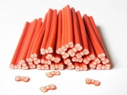 Cane noeud rouge- modelage et pâte fimo