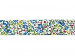 1m biais 20mm fleuri - Anne